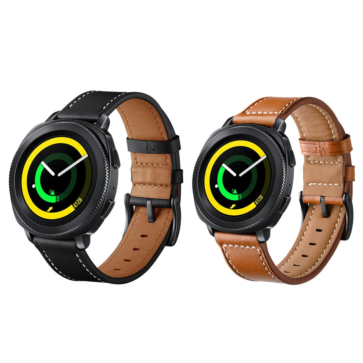 Genuine Leather Watch Band Strap For Samsung Gear Sport S4