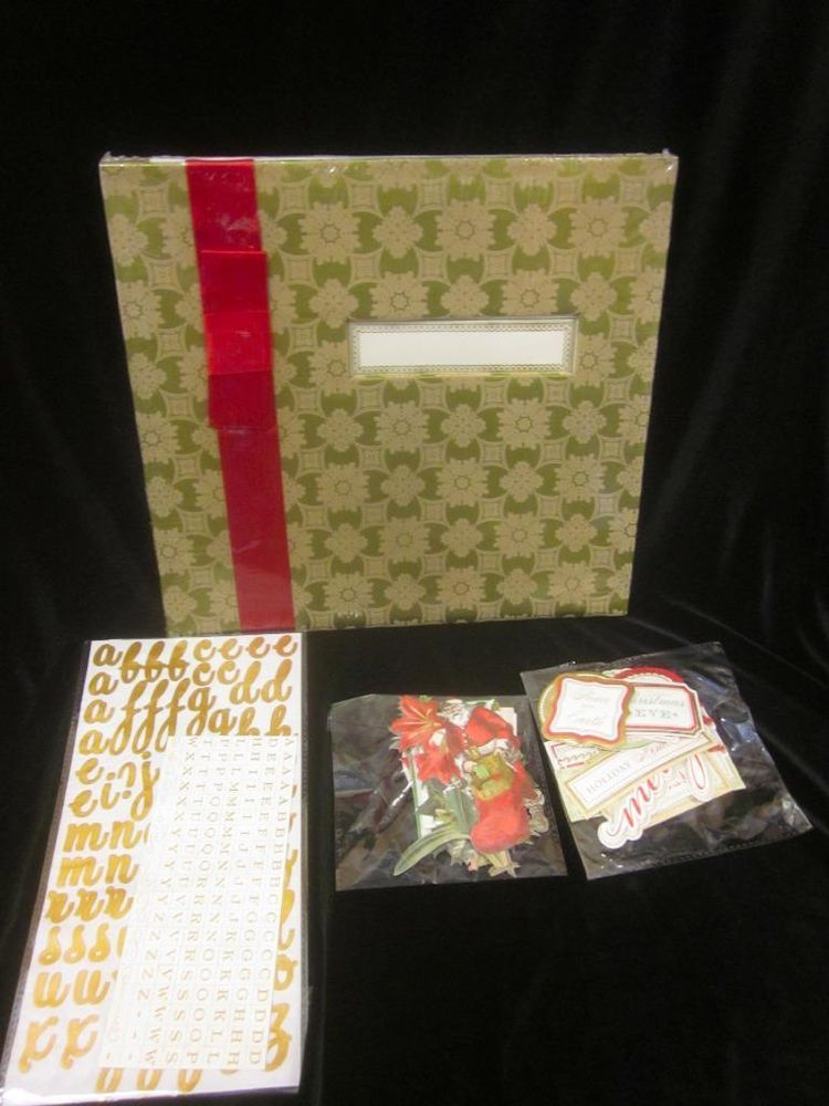 Anna Griffin Pre-Made Scrapbook Kit CHRISTMAS 12x12 w/Papers~NEW~SAVE NOW 4 XMAS #ANNAGRIFFIN