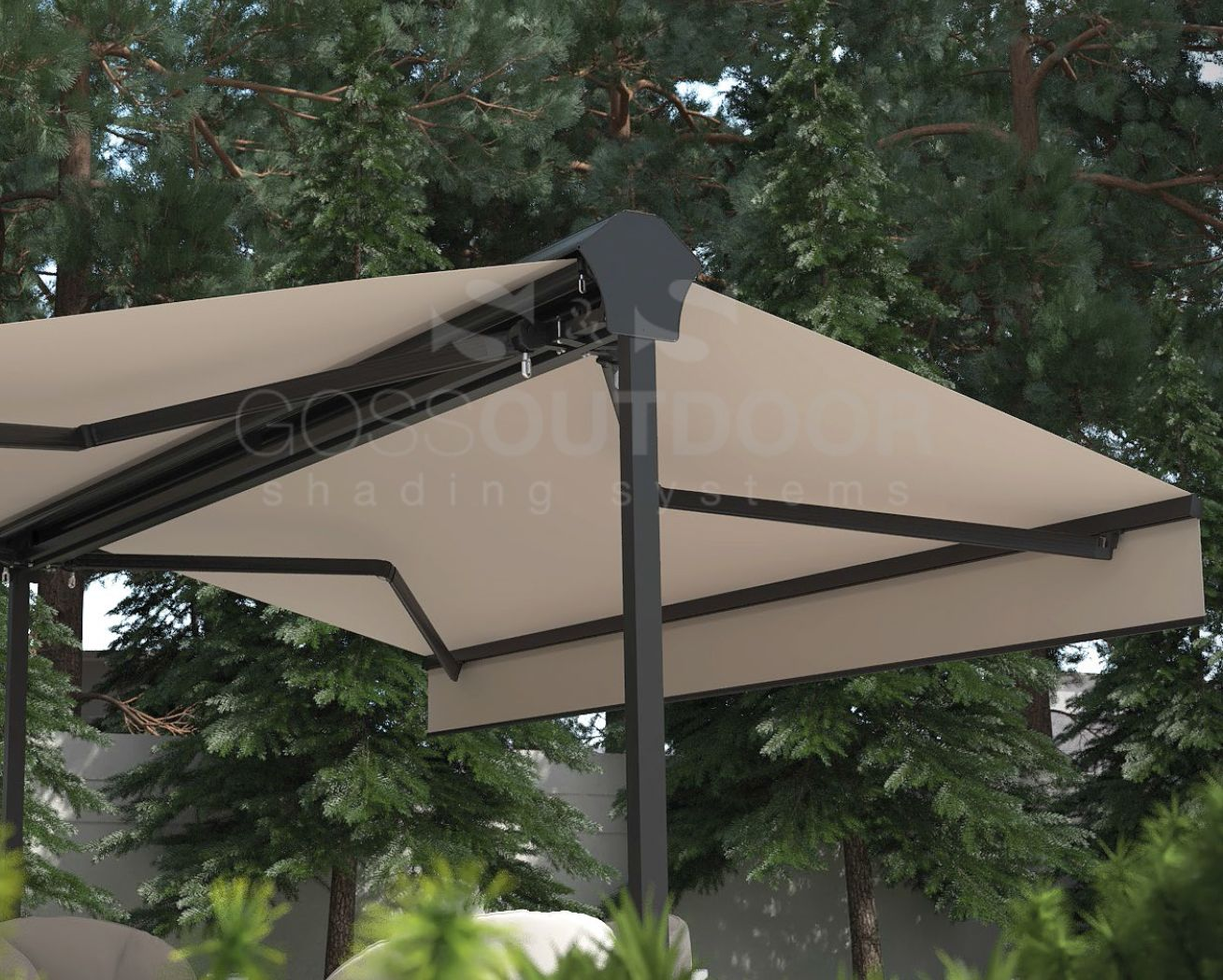 Twins Classic Awnings Outdoor Shading System Retractable Pergola