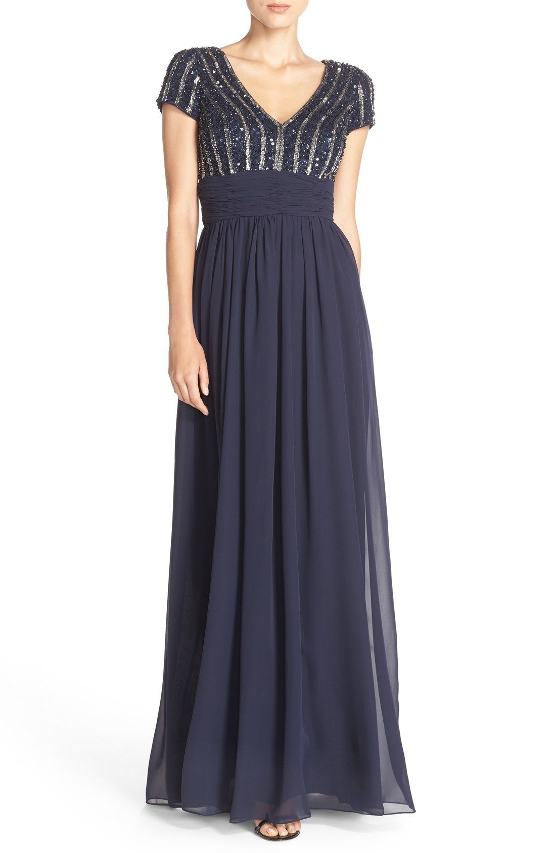 JS Collections Embellished Chiffon Empire Gown available at ...