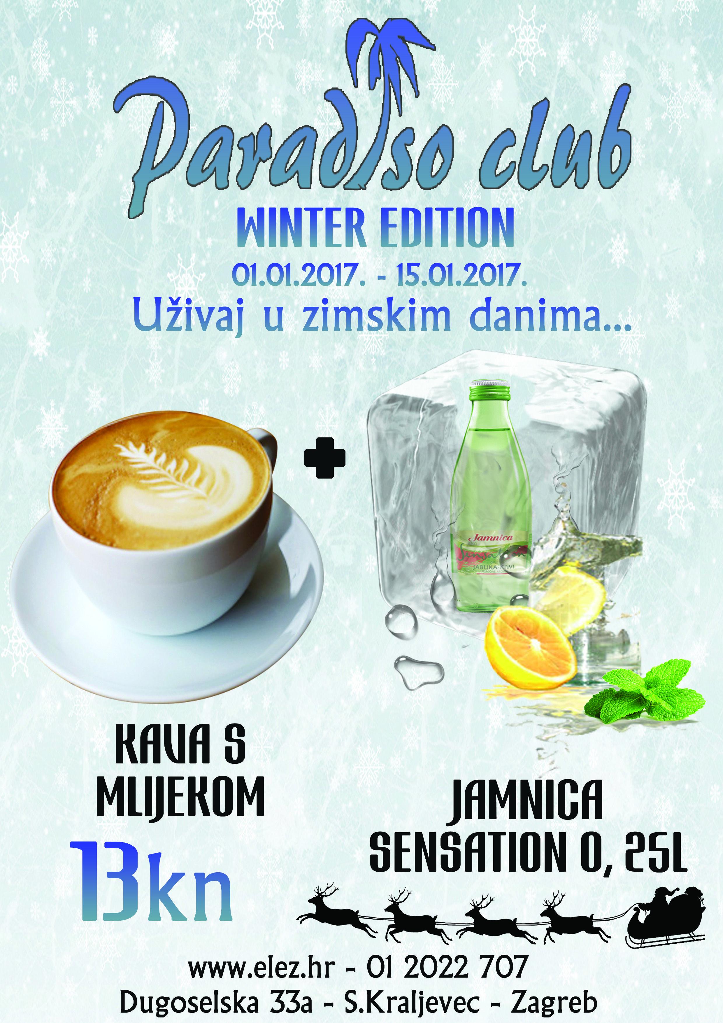 Uzivaj U Zimskoj Ponudi Paradiso Cluba With Images Latte Club Food