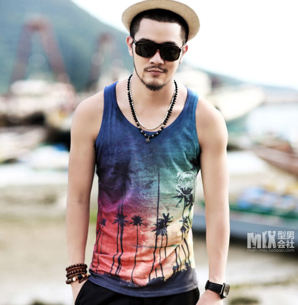 d25052aa27463 Men s summer beach tank top california sleeveless vest  fashion  clothing   shoes  accessories  mensclothing  shirts (ebay link)