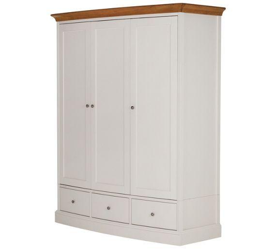 Buy Schreiber Chalbury 3 Door 3 Drawer Wardrobe White At