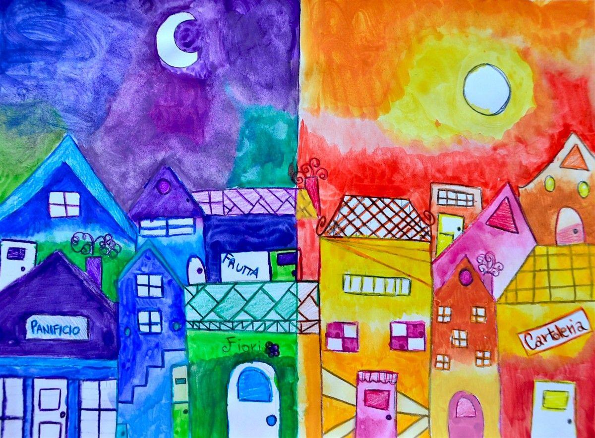 Piccolo borgo a colori caldi e freddi nuovi disegni for Disegni a colori caldi