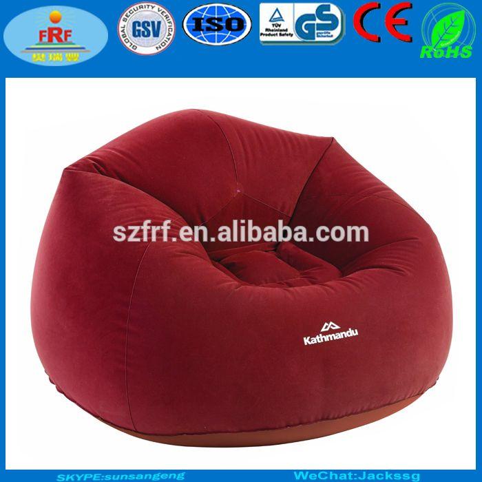 Inflatable Flocking Bean Bag Sofa Moon Chair Lazy Air