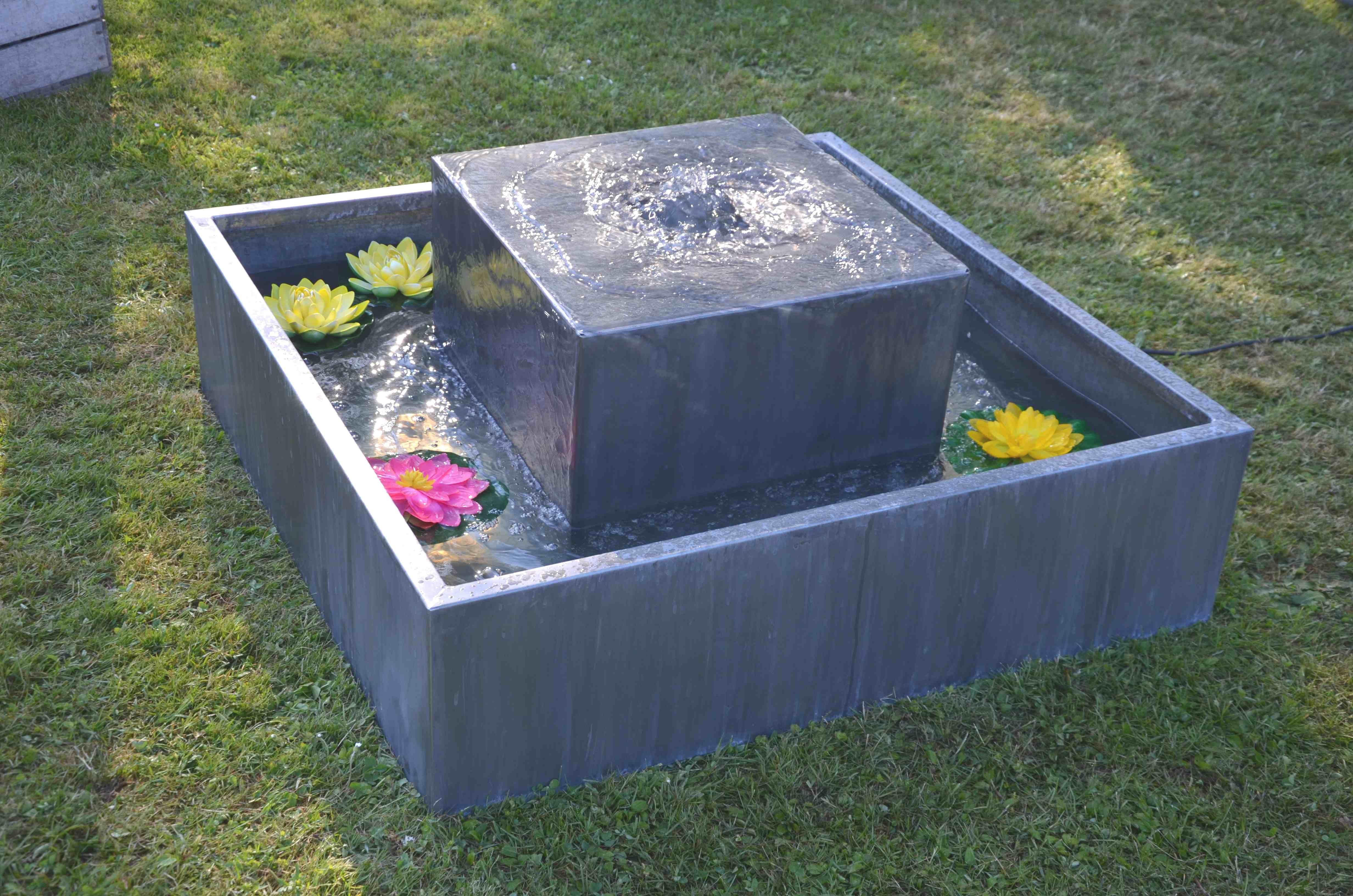 fontaine bassin, fontaine jardin, fontaine zinc | Fontaine ...