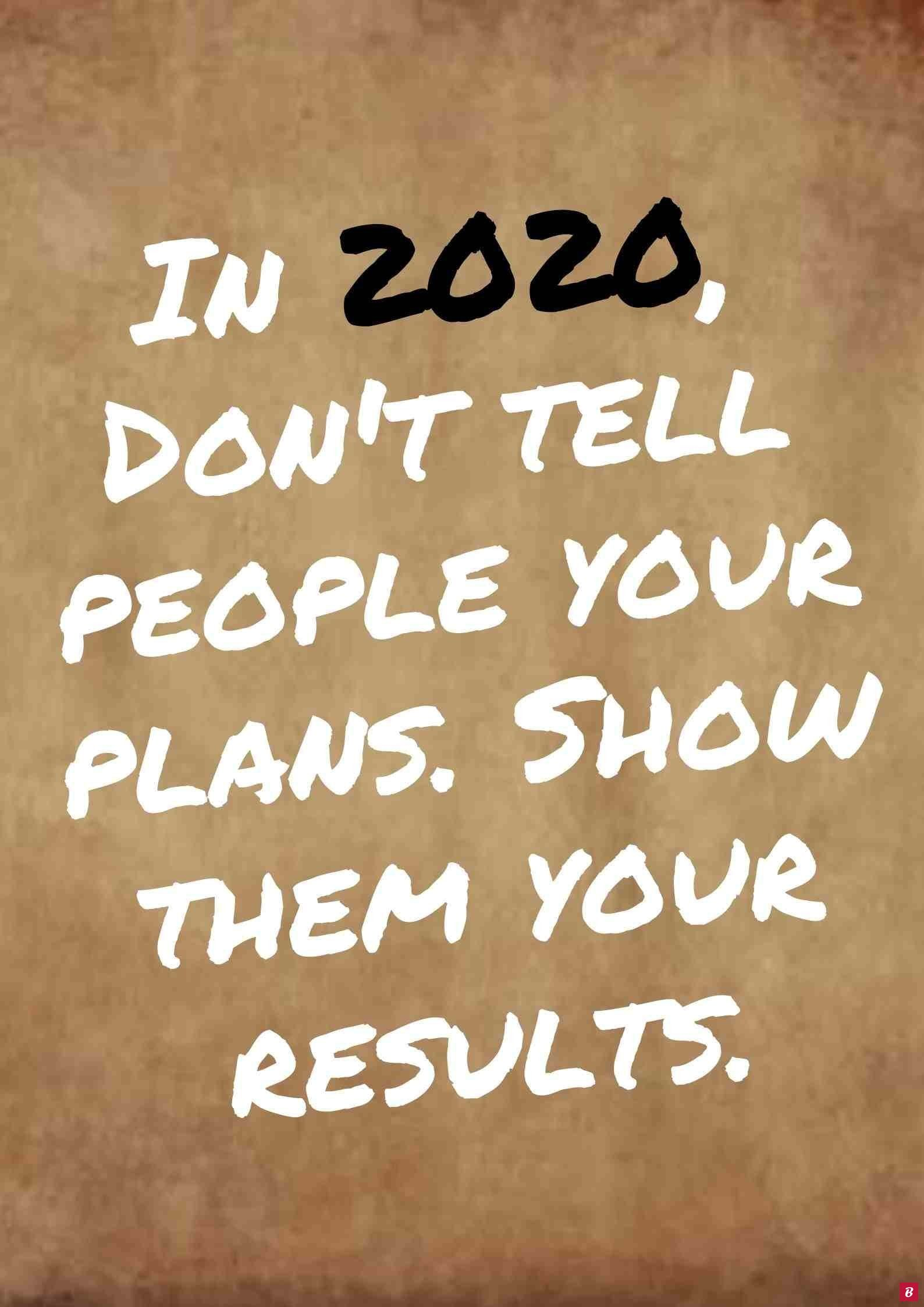 Resolution quotes fitness for 2020 year. In 2020, Don't