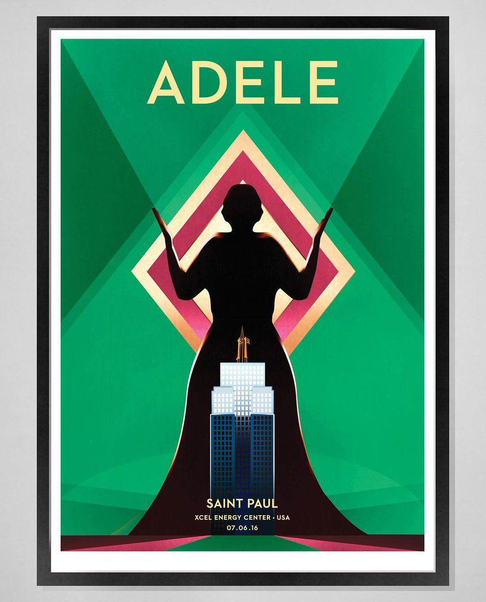 Adele at Xcel Energy Center, St. Paul poster (Minnesota, July 7)