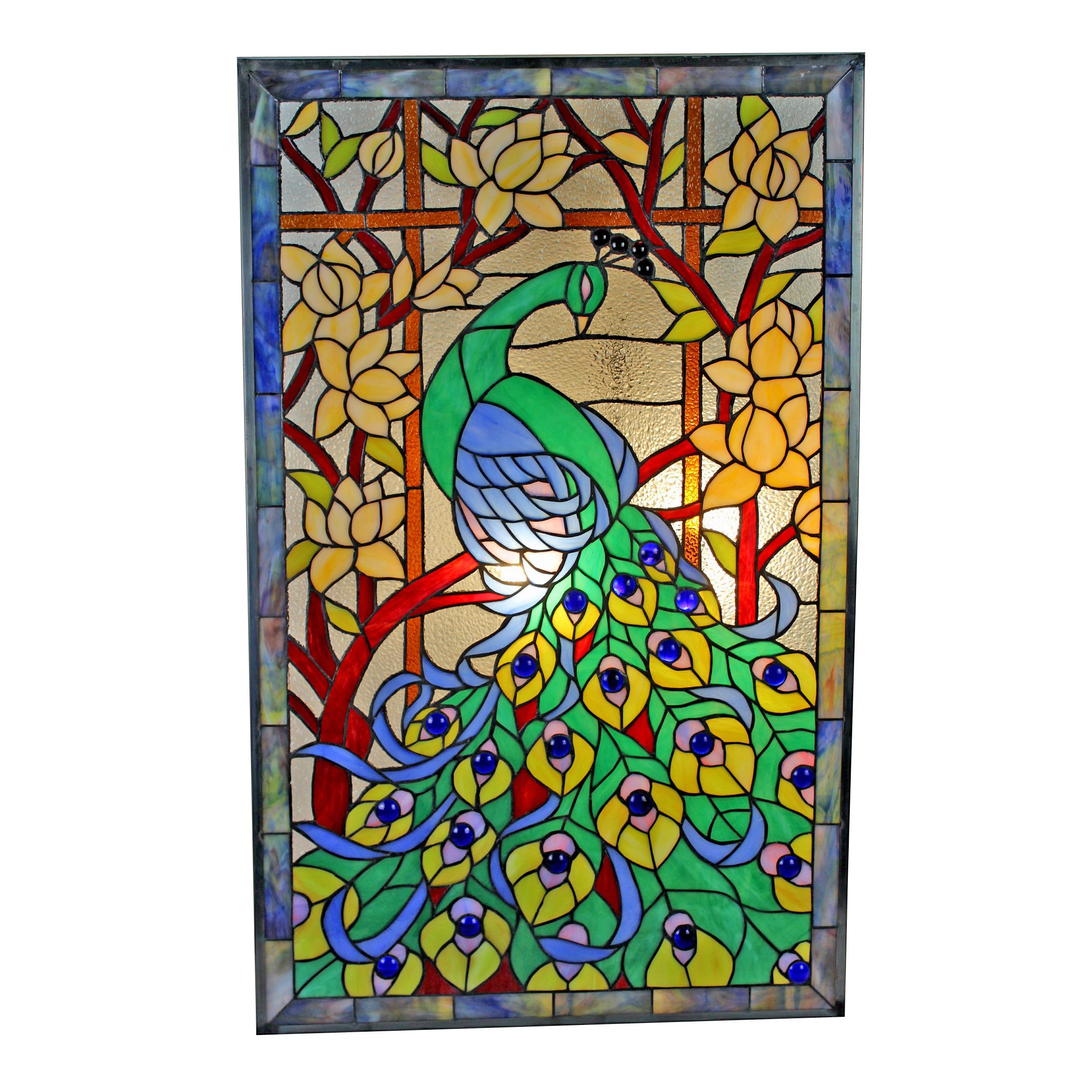 This Tiffany Style Window Panel Is Handcrafted Using The Same Techniques  That Were Developed By · Louis Comfort TiffanyStained Glass ...