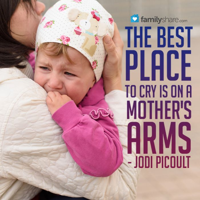Kết quả hình ảnh cho the best place to cry is on a mother's arms