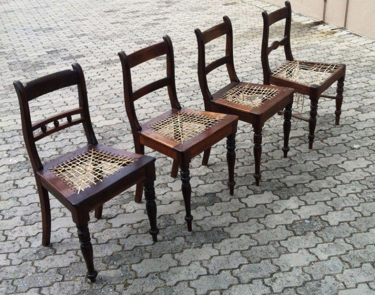 Antique Stinkwood Chairs Rare Cape Regent Etc Volkwyn Design