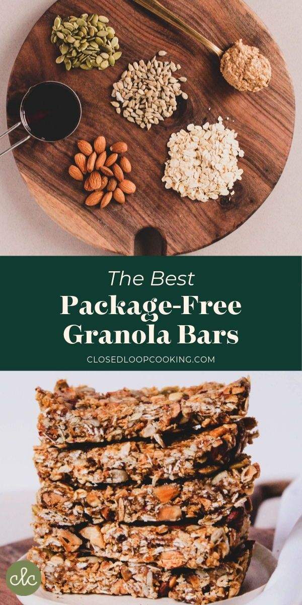 The Best Package-Free Granola Bars   Recipe in 2020 ...