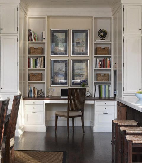 Home Office Built In Modern Home Office With Builtin Desk Storage