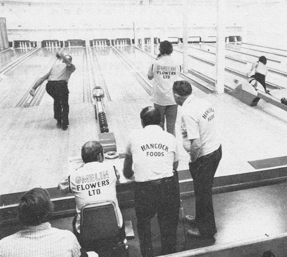 Presto Lanes Bowling Alley, (Preston) Cambridge, Ontario in 1977. A ...