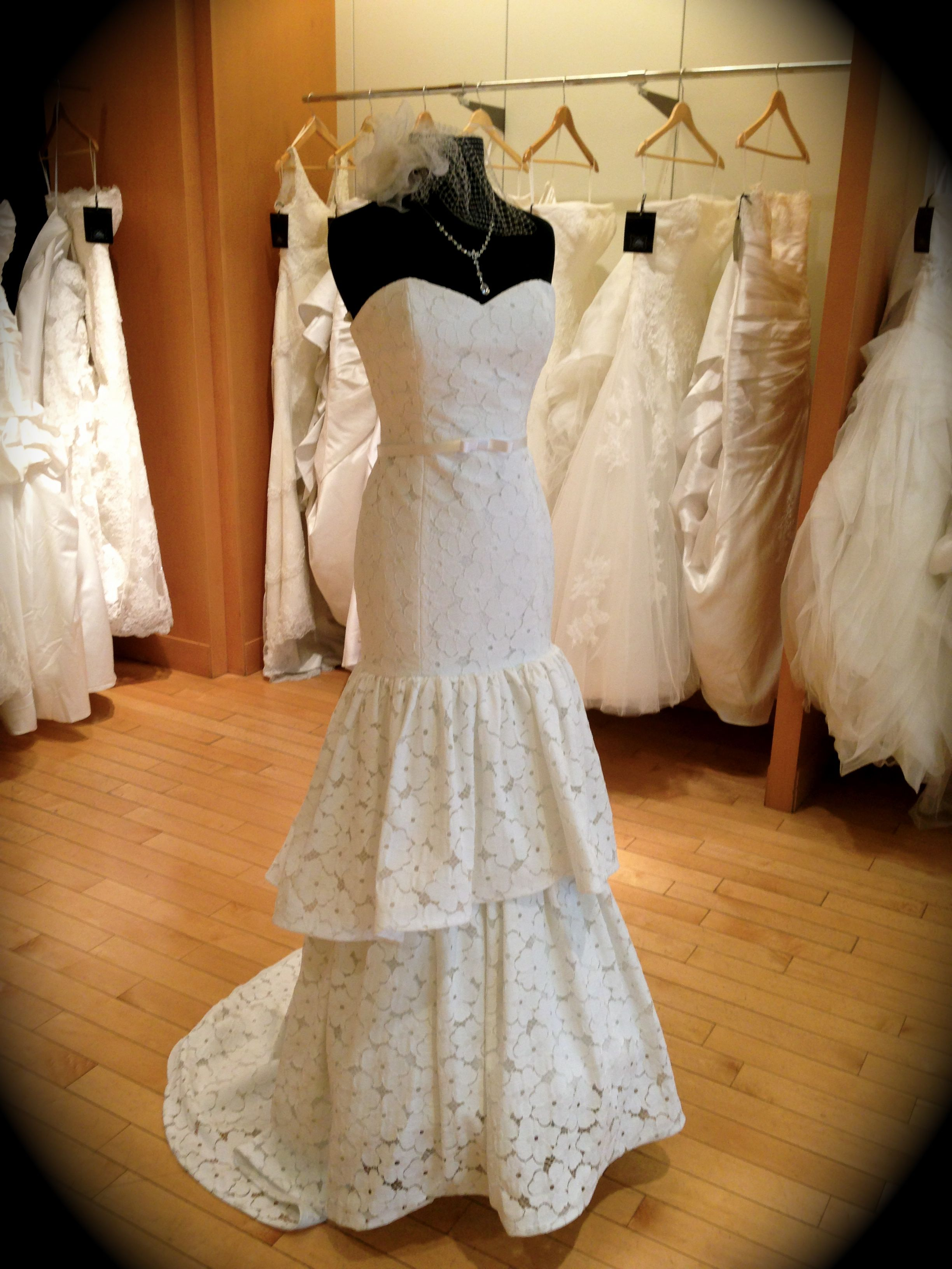 Trumpet wedding dress with layered lace by JLM for your