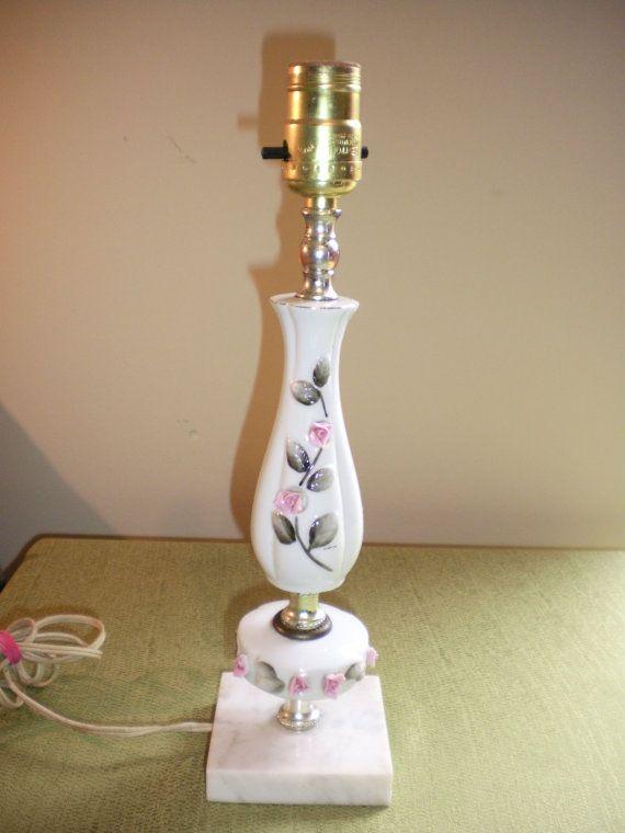 Antique Porcelain Floral Leviton Lamp by CreativeAntiques on Etsy ...
