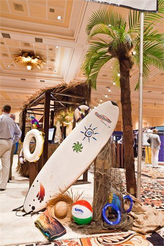 Exhibition Booth Decoration Ideas : Beach themed trade show booth photo gallery for ampa