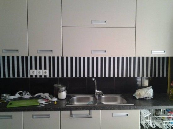 Easy Backsplash Easy backsplash Ikea hackers and Clever