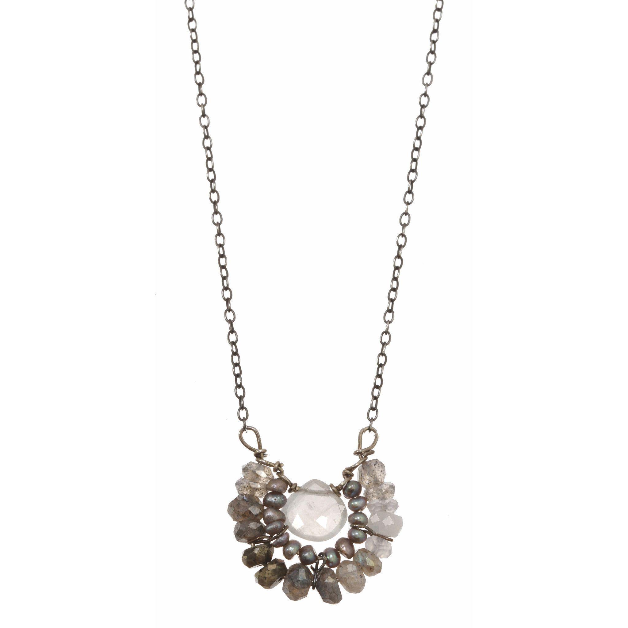 Michelle Pressler Necklace Labradorite and Pearl 2353 Artistic