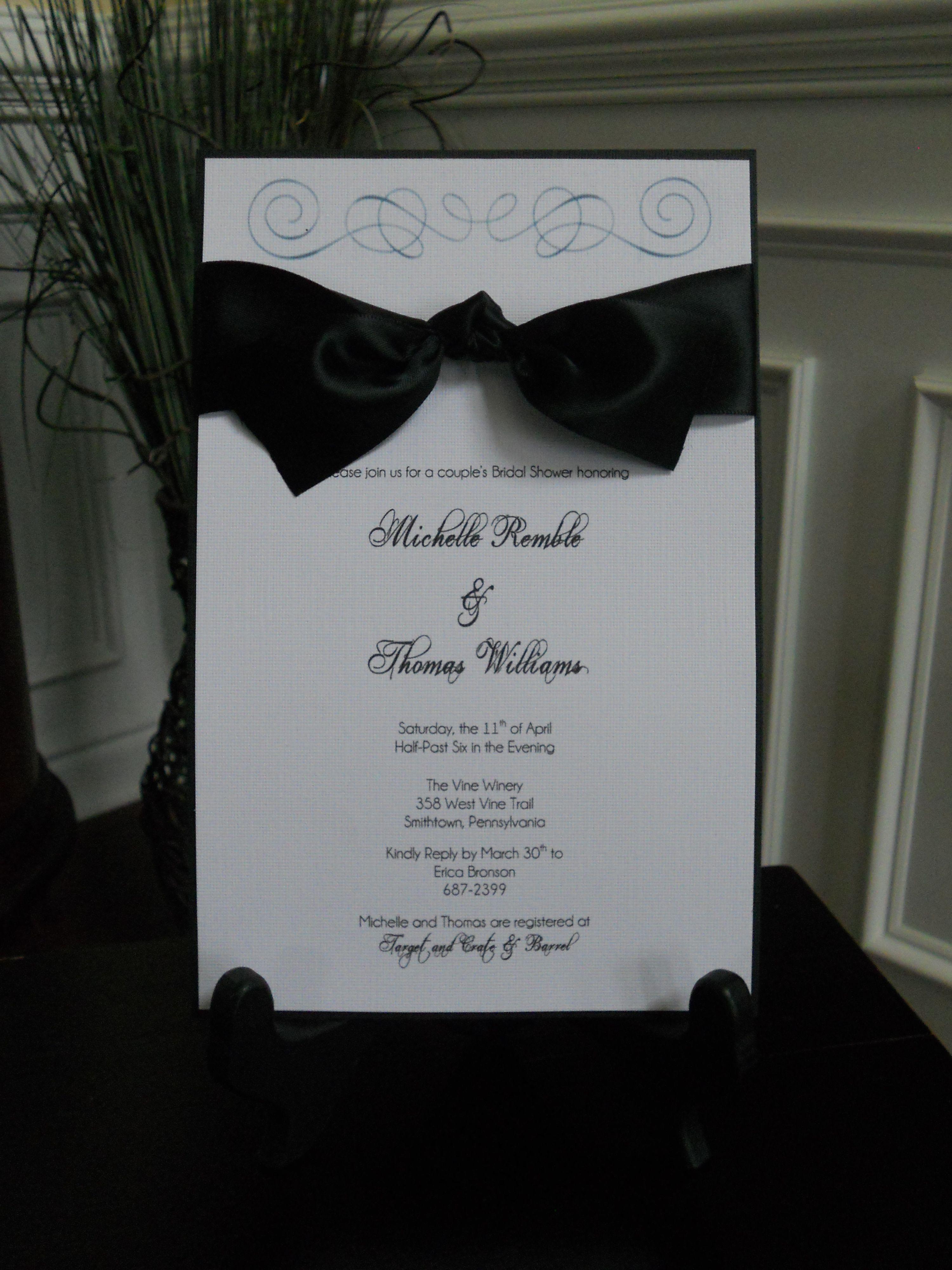 Homemade wedding invitations homemade invitations bridal10 2 images for homemade rustic bridal shower invitations 2015 2016 solutioingenieria Choice Image