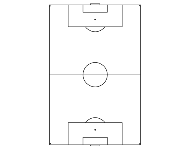 Pict Simple Vertical Soccer Football Field Soccer Football Fields Vector Stencils Library Png Diagram Flowchart Example Png 640 505