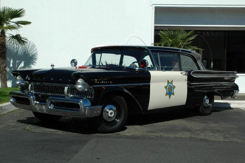 CHP 1957 Mercury Police Car  | Police Vehicles | Old police