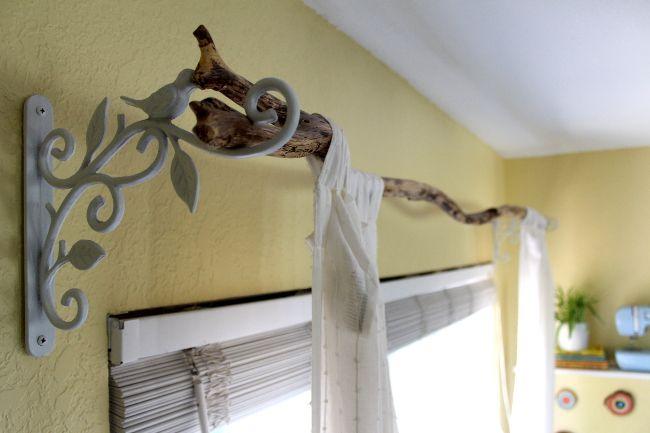 Diy Tree Branch Curtain Rod Branch Curtain Rods Diy Curtain Rods Curtain Rods