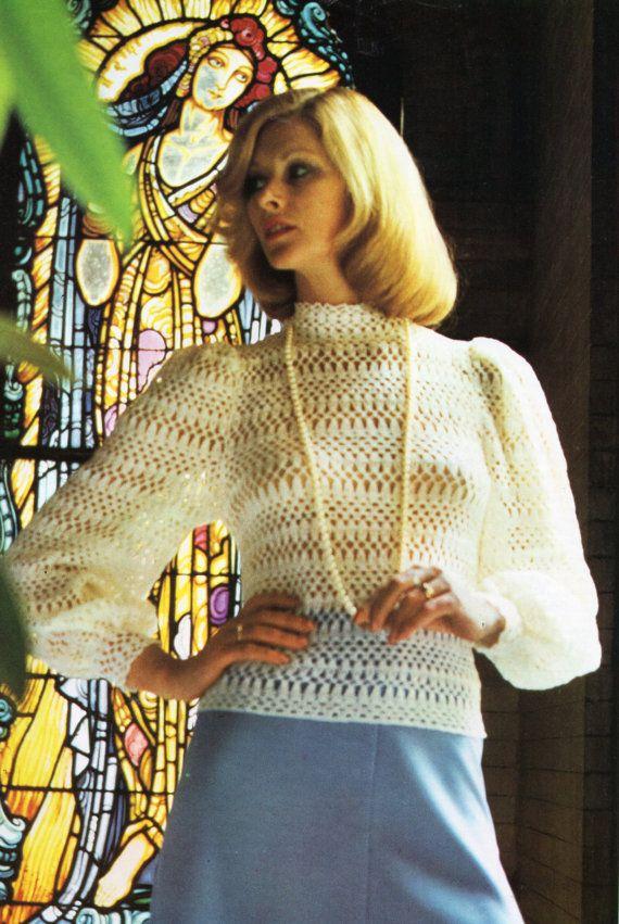 Womens Crochet Pattern Womens Crochet Blouse Crochet Top Lacy