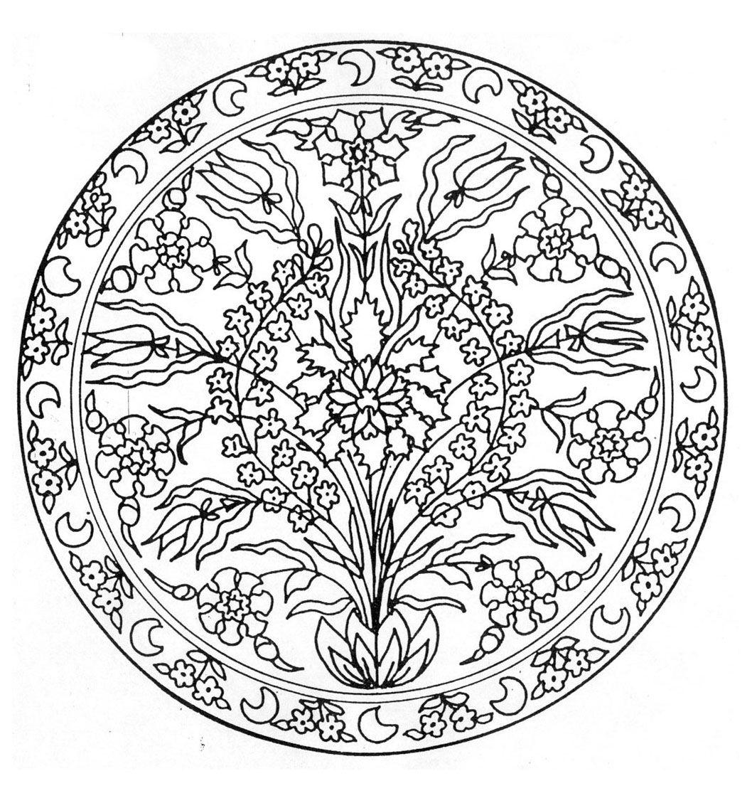 Pour imprimer ce coloriage gratuit «coloriage-mandala-fleurs-3 ...