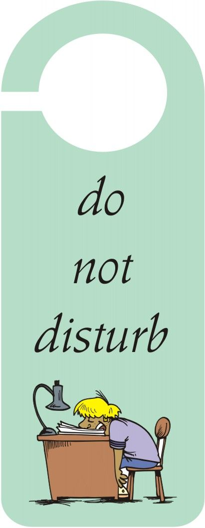 "Do Not Disturb"" Door Hanger 