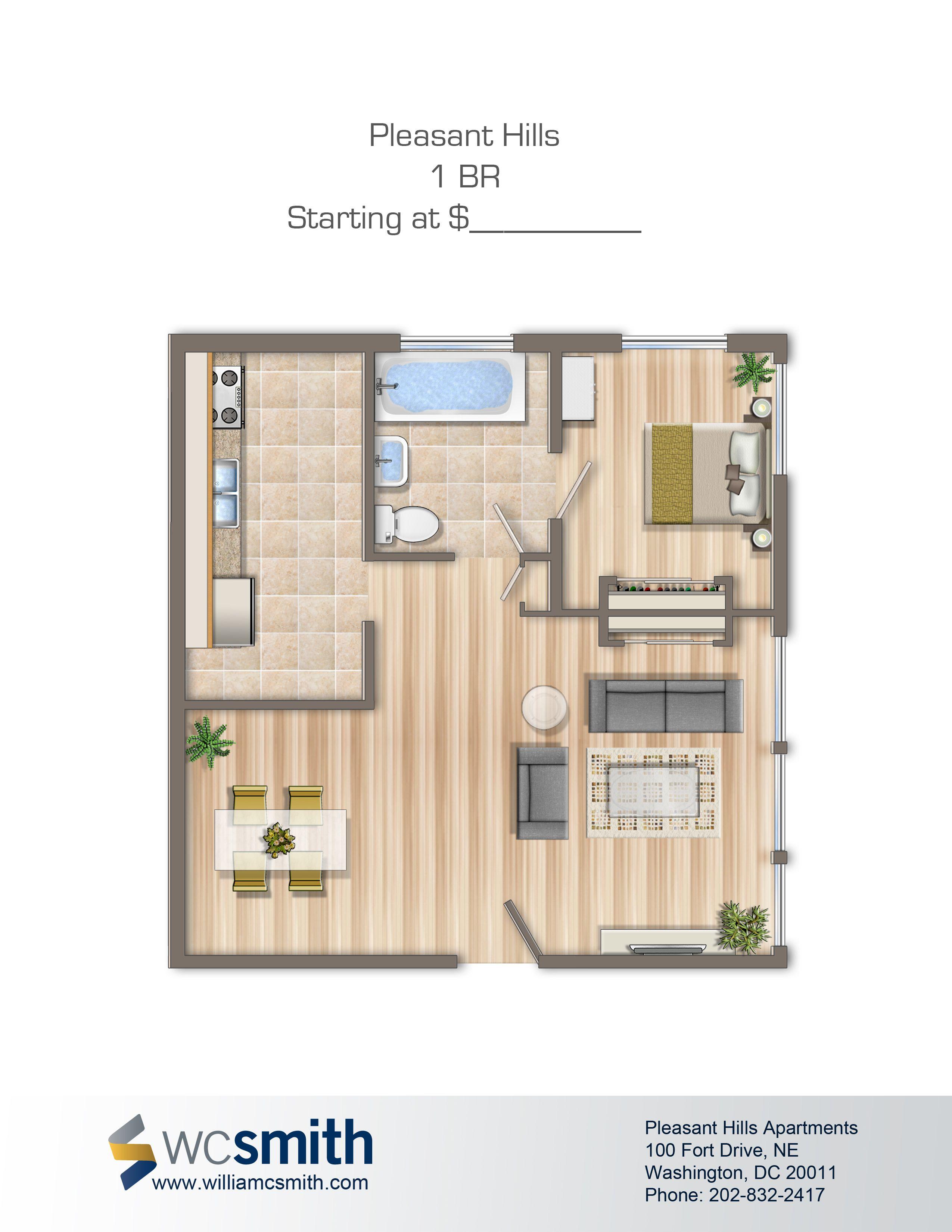 1 Bedroom Studio For Rent: Bedroom Floor Plans, Washington Dc And