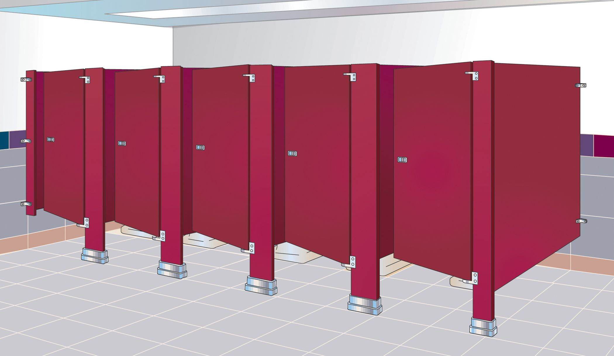 Commercial Bathroom Stall Property commercial toilet partitions for sale in austin texas | bathroom