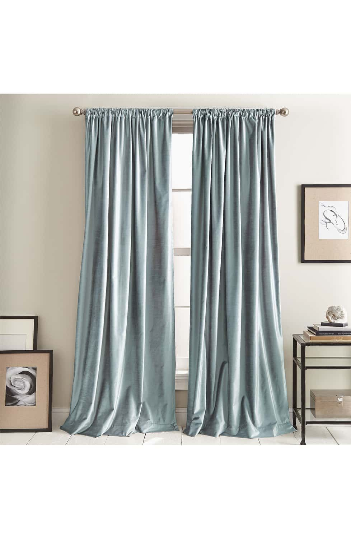 Dkny Modern Slub Velvet Set Of 2 Window Panels Panel Curtains Curtains Velvet Curtains