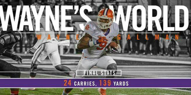 Wayne S World Wayne Gallman Sports Graphic Design Clemson Football Football Design
