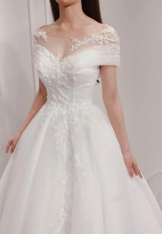 Elegent Aline Brautkleid / Off The Shoulder Brautkleid / Winterhochzeit   – Wedding dresses