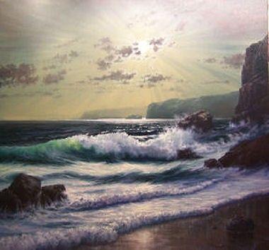 Hornchurch Fine Art Romantic Waves No.1 - Andrew Kurtis - Artist Originals