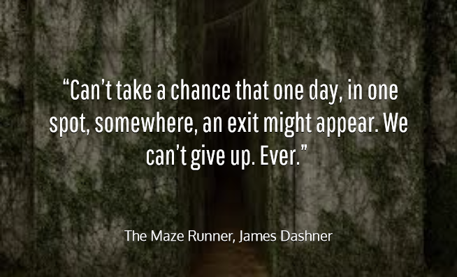 Maze Runner Quotes With Page Numbers