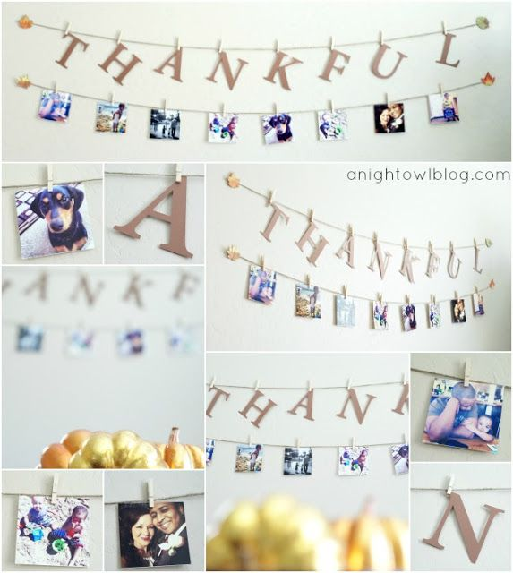Thankful Photo Display