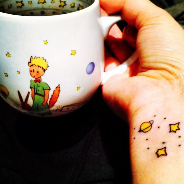 tatouage c leste tasse magique le petit prince gifts. Black Bedroom Furniture Sets. Home Design Ideas