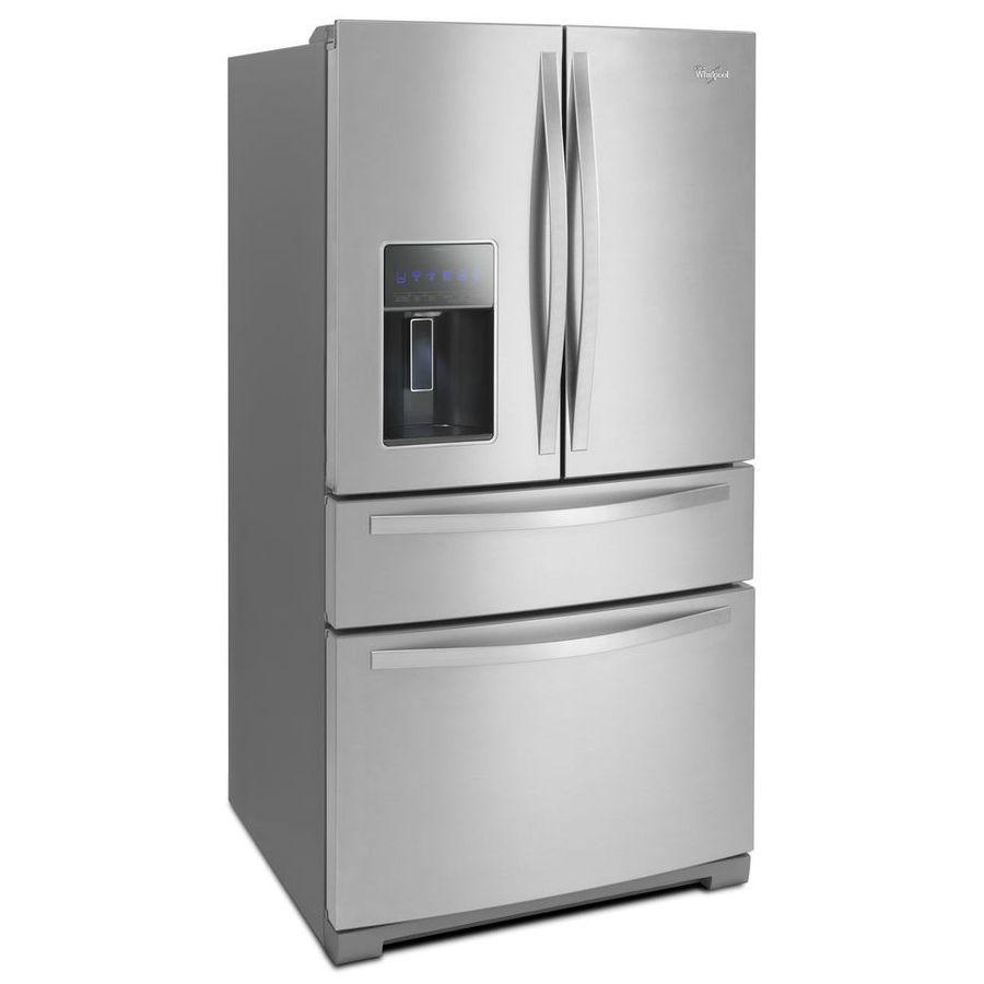 Whirlpool white ice french door - Shop Whirlpool 26 2 Cu Ft 4 Door French Door Refrigerator With Single Ice Maker