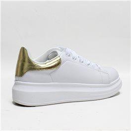 099b1f7ca643 Δίπατο sneaker λευκό-χρυσό