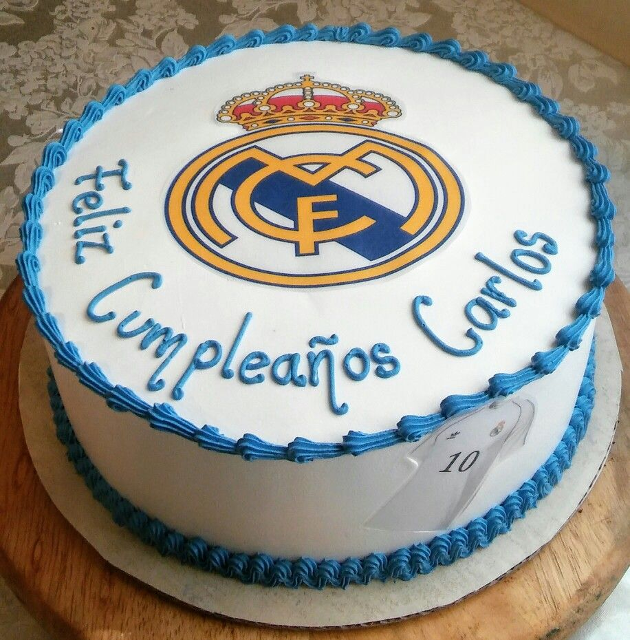 Real Madrid Birthday Cake With Images Real Madrid Cake Cake