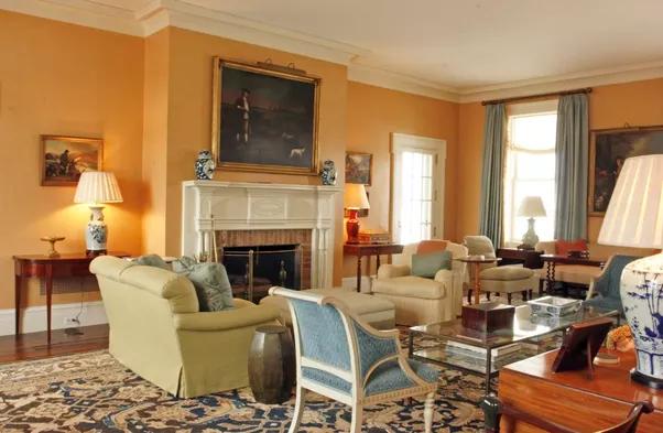 Image Result For Living Room Beige Walls Burnt Orange Curtains