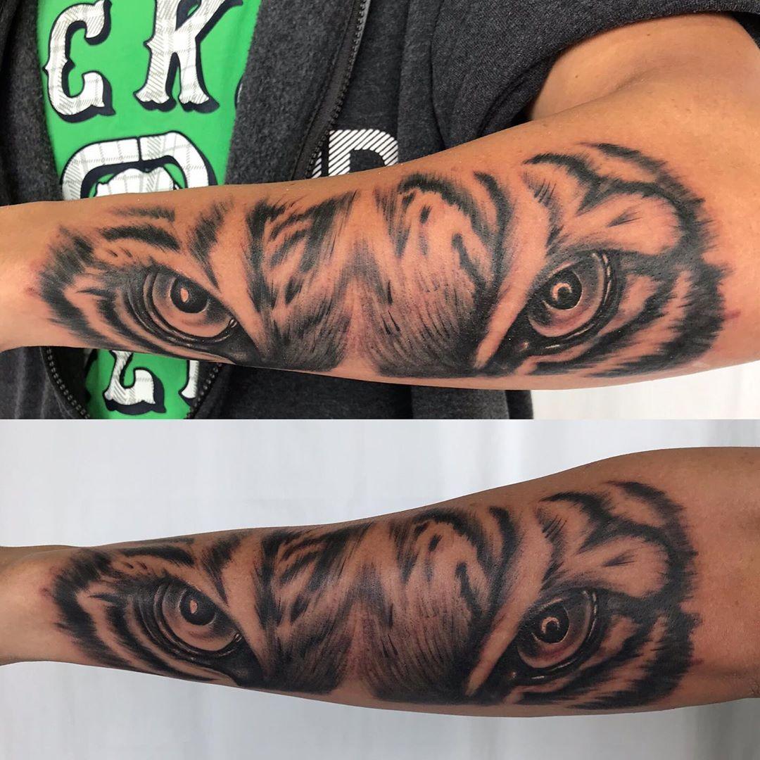 Great tiger tattoo by julio tigertattoo