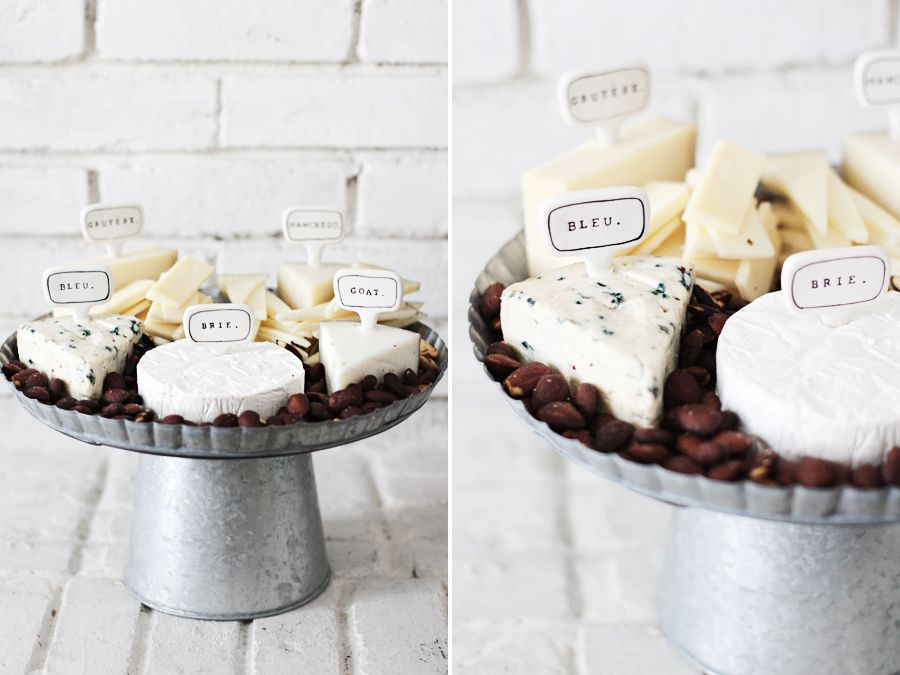 A simple yet to-die-for cheese platter from Rustic + chic housewarming party | Photo by Roost via The Sweetest Occasion (I love every single idea in this post!)