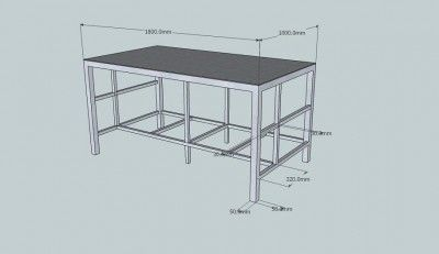 Metal Work Bench Plans May 25 2012 I Am Building A Steel Workbench