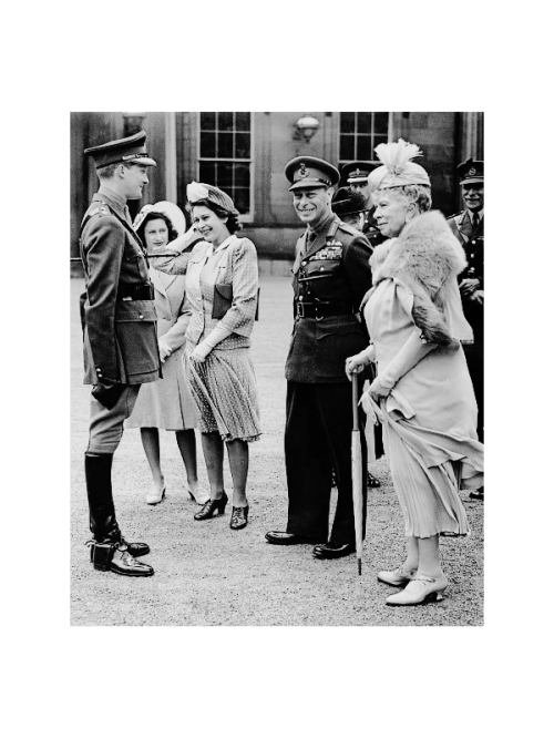 31 July 1946 Members of the British royal family at a presentation of 36 Netherlands-bred horses to Queen Wilhelmina of the Netherlands, at Buckingham Palace. Source: Paul Popper/Popperfoto