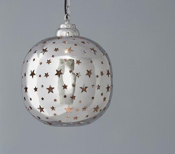 Piereced star pendant | Nursery Theme | Gray Stars | Pinterest ...
