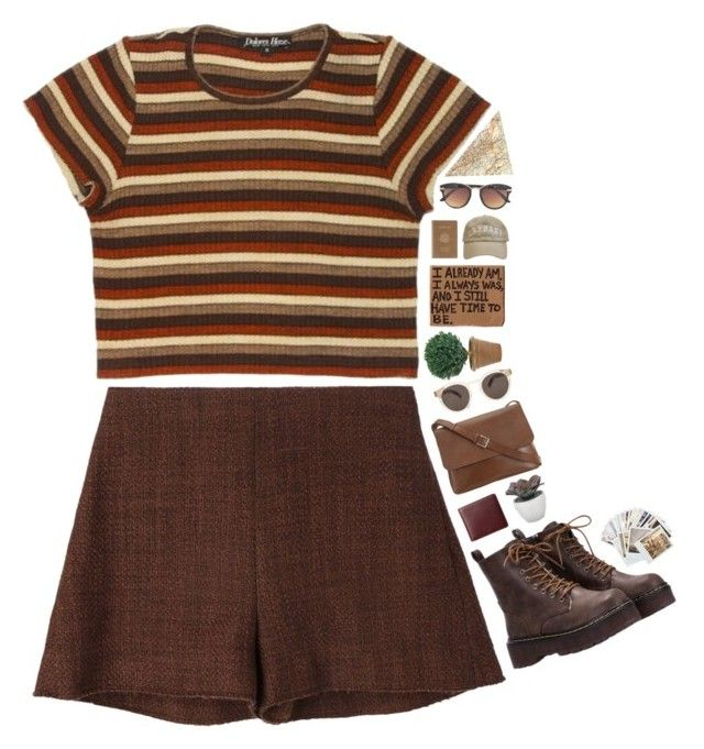 """brownn boiii"" by puhizaxox ❤ liked on Polyvore featuring Marni, Chronicle Books, Valextra, Torre & Tagus, Illesteva, NDI, Royce Leather, MLC Eyewear, brown and autumn"