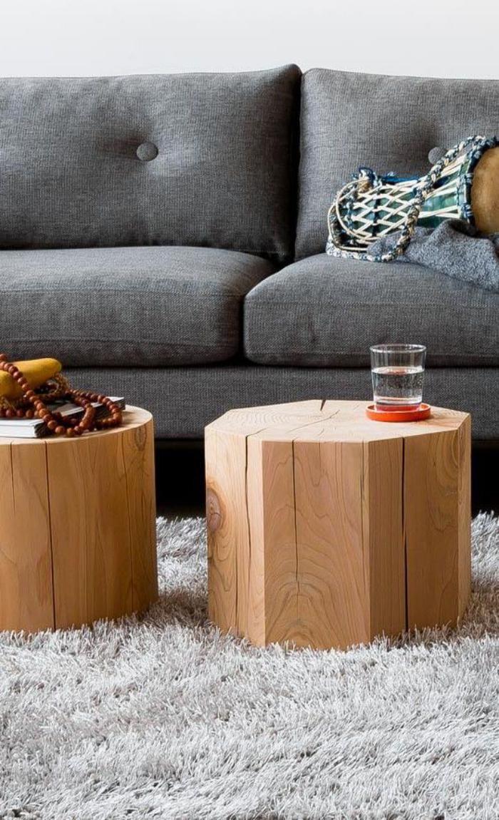 rondin de bois tables basses rondins de bois